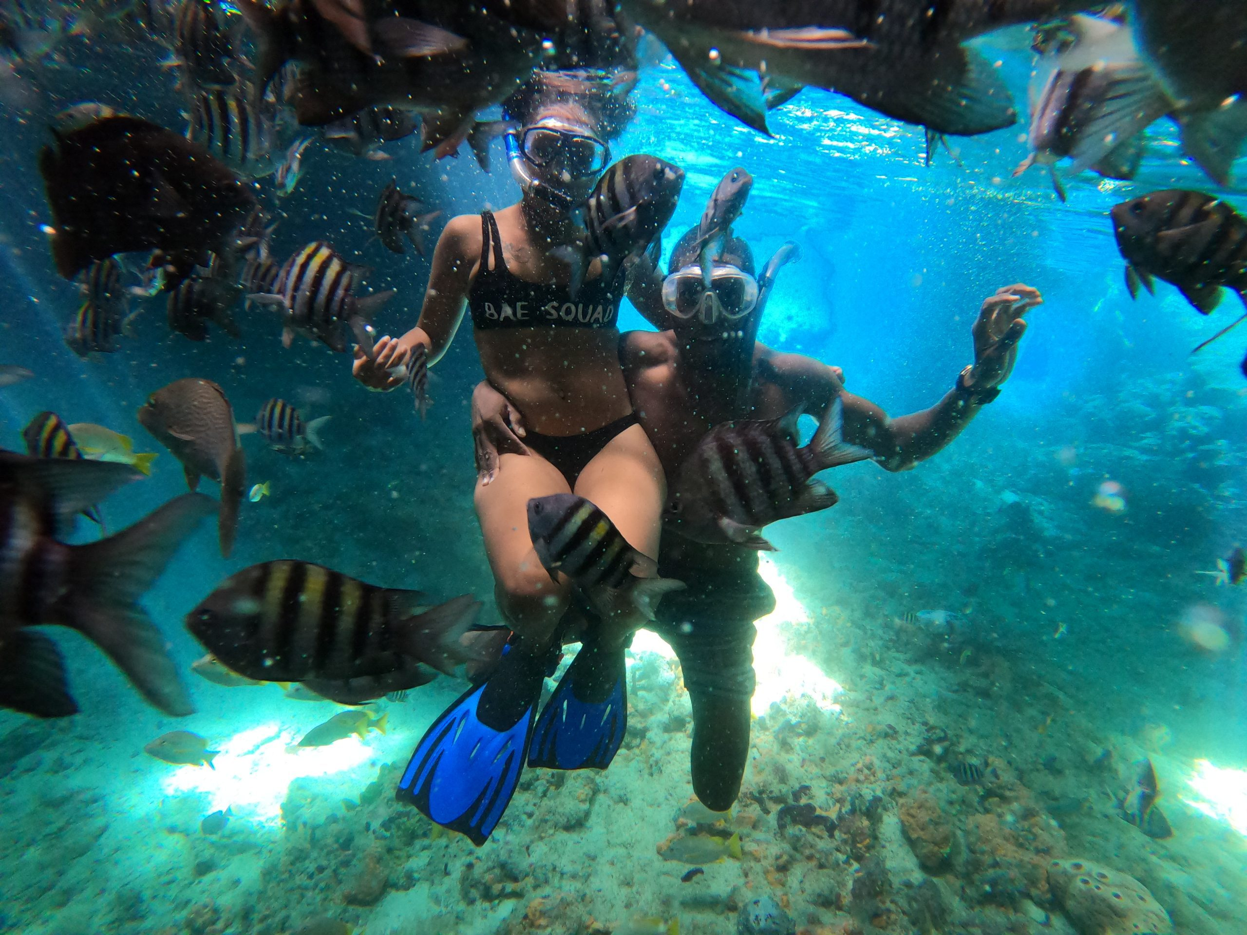 Snorkeling Couple in the exuma cays